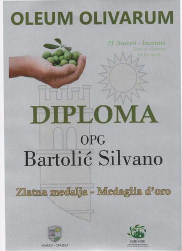Nagrada Oleum Olivarum 2018